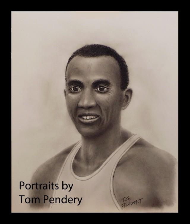 Charcoal Portrait of Jesse Owens